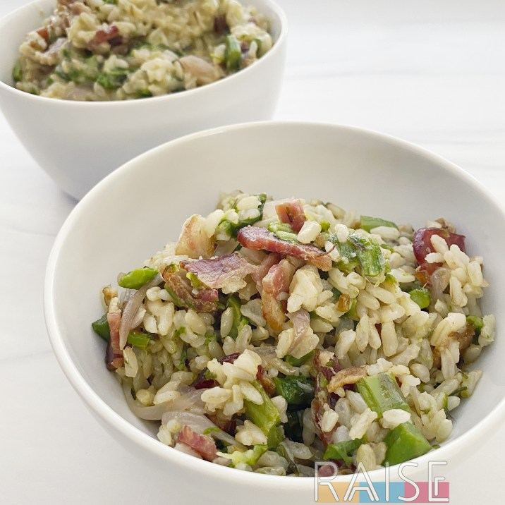 Asparagus, Bacon, and Rice Cookup by The Allergy Chef