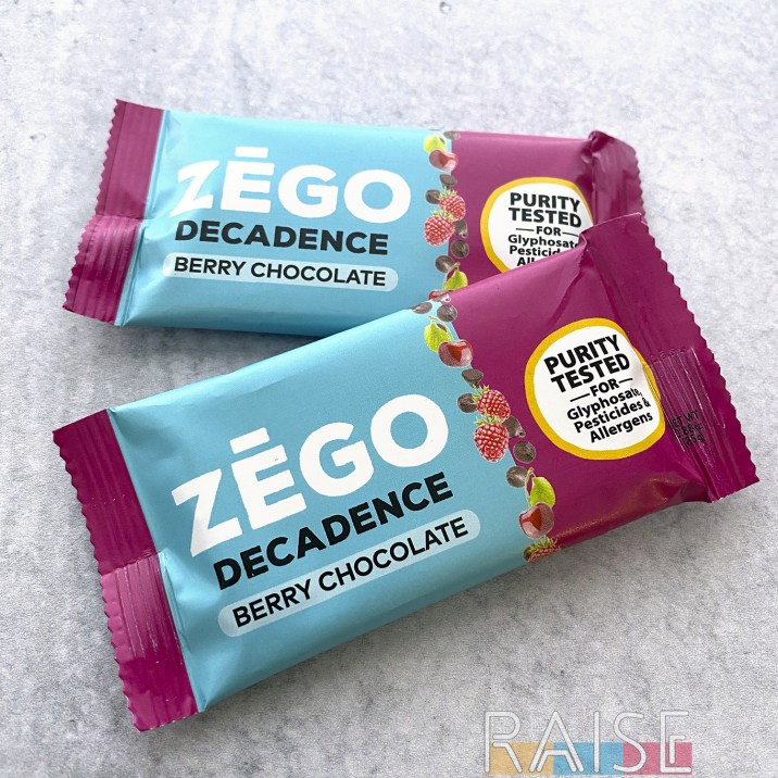 Zego Foods Decadence Berry Chocolate Bar