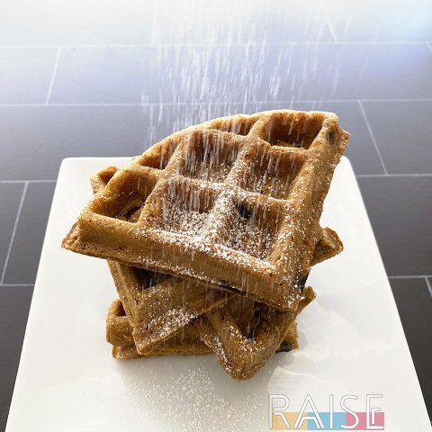 Gluten Free Vegan Carrot Cake Waffles by The Allergy Chef