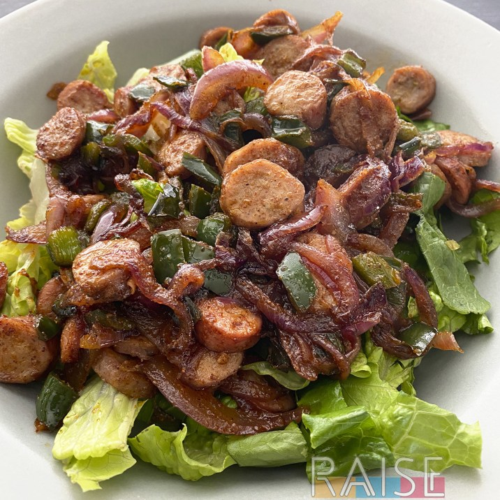 Spicy Sausage Salad by The Allergy Chef