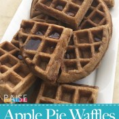 Gluten Free Apple Pie Waffles (Vegan, Top 8 Free) by The Allergy Chef