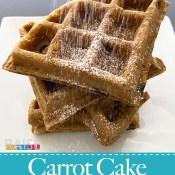Gluten Free, Vegan Carrot Cake Waffle (Top 8 Free)