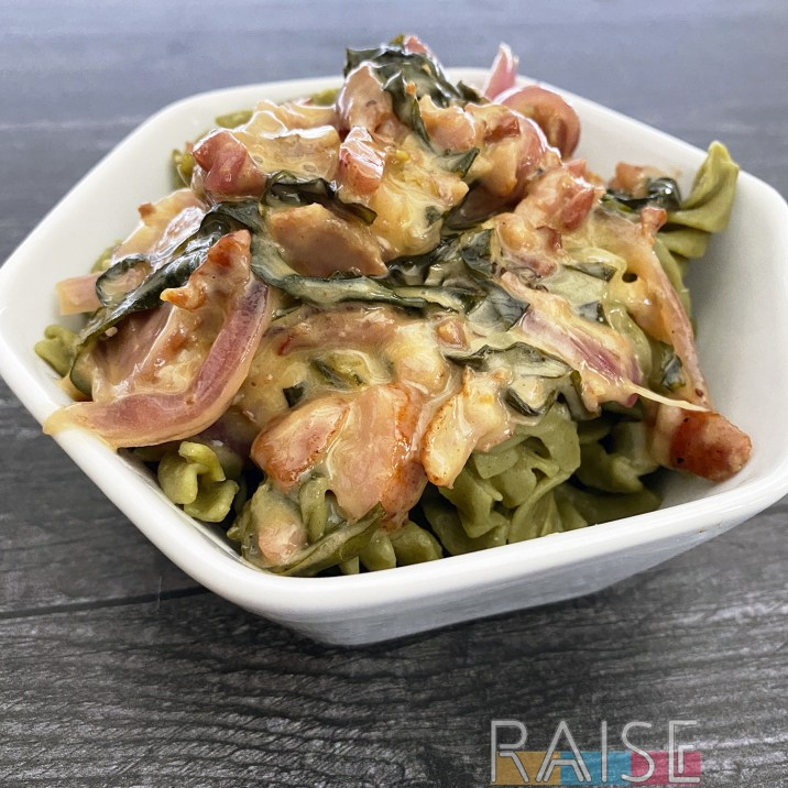 Gluten Free Bacon & Mayo Pasta by The Allergy Chef