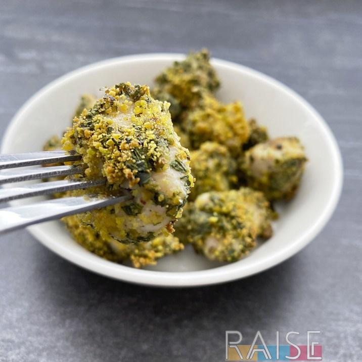 Gluten Free Pistachio Chicken Nuggets by The Allergy Chef