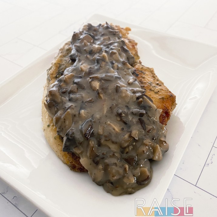 Gluten Free Crispy Chicken and Mushrooms by The Allergy Chef