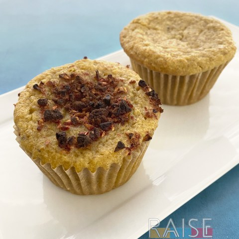 Gluten Free Raspberry Rose Muffins by The Allergy Chef
