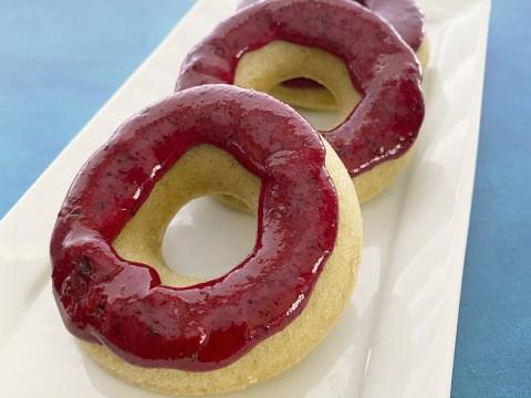 Gluten Free Vegan Vanilla Cake Baked Doughnuts by The Allergy Chef