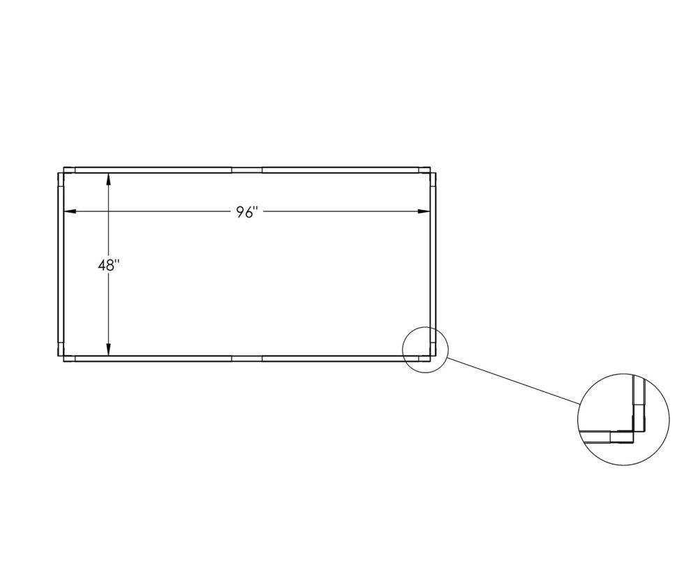 medium resolution of 4x8 diagram of a raised bed garden