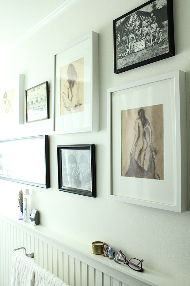 raised be design - bathroom renovation - framed art - gallery wall