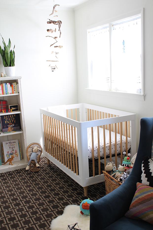 boy nursery modern bohemian