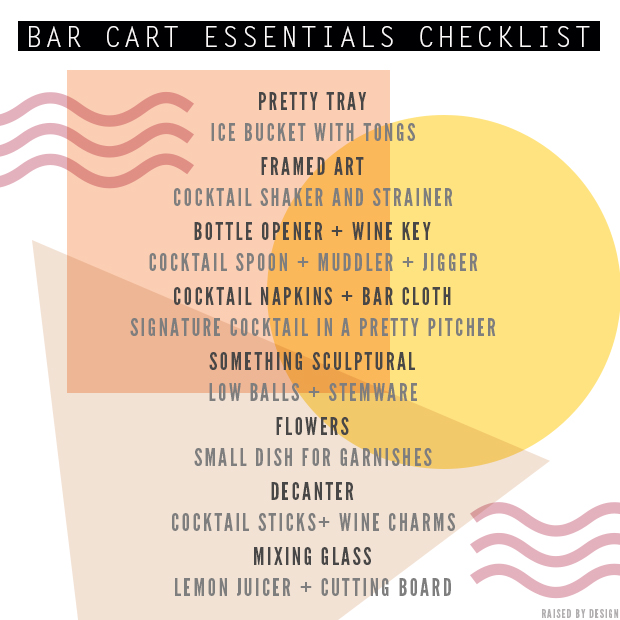 stocking your bar cart essentials checklist