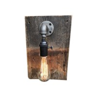 Rustic Modern Light Fixture - Raised In A Barn Furniture