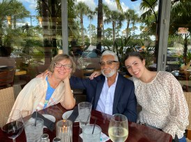 My family enjoyed an outdoor dinner at Bimini Twist in West Palm Beach