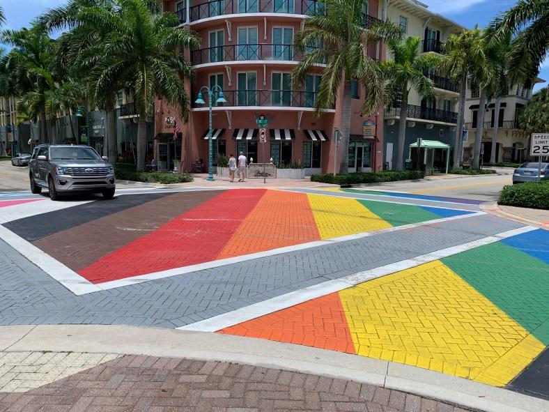LGTBQ Rainbow, Delray Beach