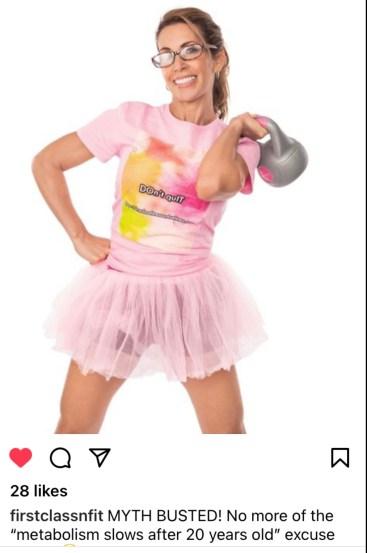 Marlo Scott, First Class Fitness and Wellness Instagram post