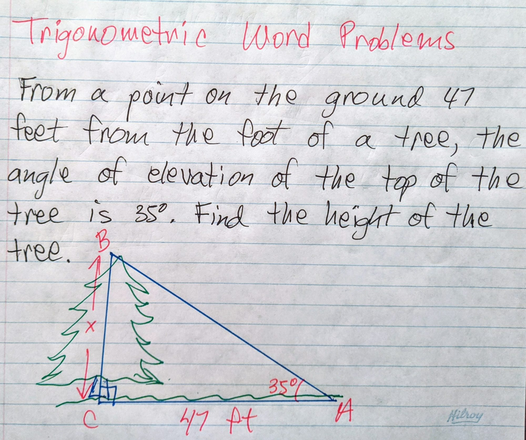 hight resolution of Trigonometric Word problems - Math Tutoring \u0026 Exercises
