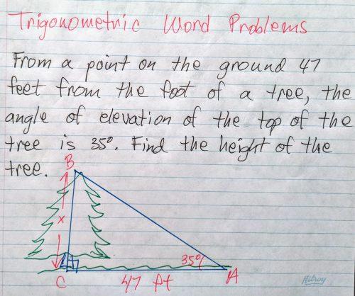 small resolution of Trigonometric Word problems - Math Tutoring \u0026 Exercises