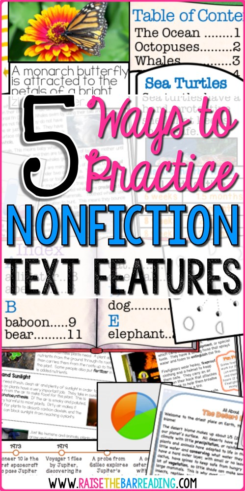 small resolution of 5 Ways to Practice Nonfiction Text Features - Raise the Bar Reading