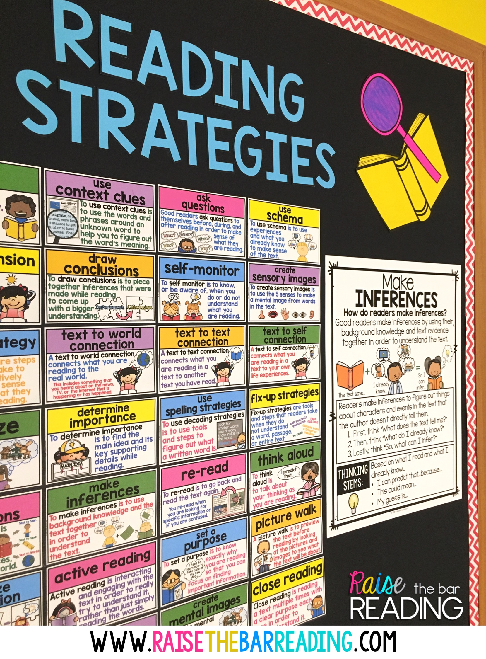 hight resolution of i have a reading strategies word wall hanging up on my wall year round but when i am about to explicitly teach one i always use a larger more detailed