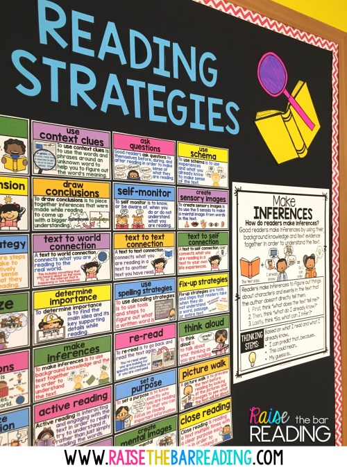 small resolution of i have a reading strategies word wall hanging up on my wall year round but when i am about to explicitly teach one i always use a larger more detailed