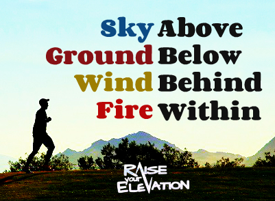 Sky Above Ground Below Wind Behind Fire Within