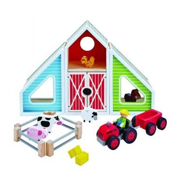 Hape houten boerderij speelset
