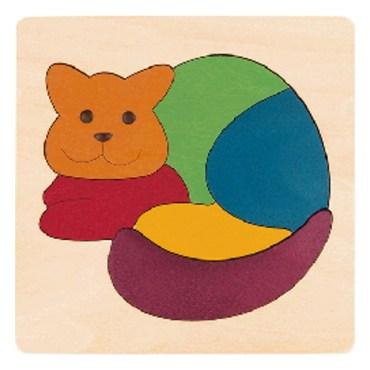 Rainbow vormenpuzzel Cat