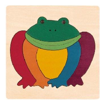 Rainbow vormenpuzzel Frog