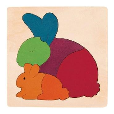 Rainbow vormenpuzzel Rabbit