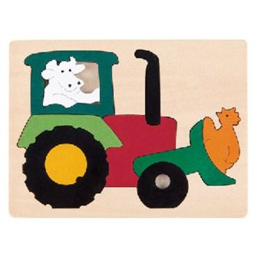vormenpuzzel Tractor