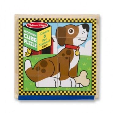 Blokkenpuzzel Huisdieren