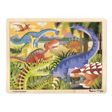 houten legpuzzel dinosaurus