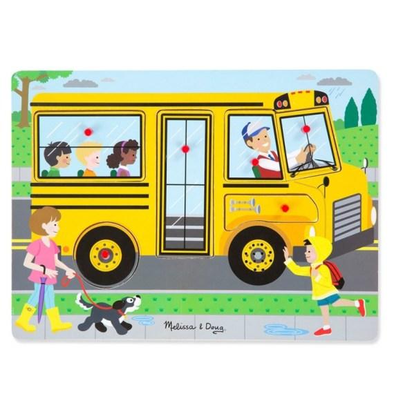 Vormenpuzzel De wielen van de Bus