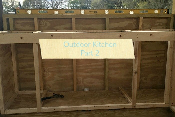Outdoor Kitchen Addition Part 2