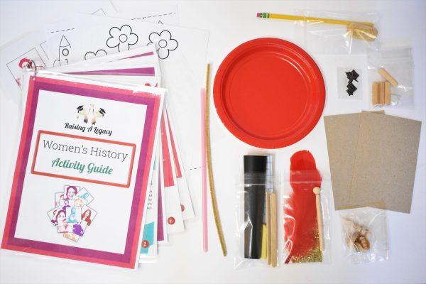 Women's History Legacy Box materials closeup