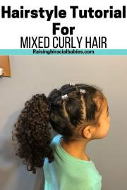 mixed girl hairstyles cute