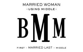 Monogram Etiquette_Married Woman - Middle