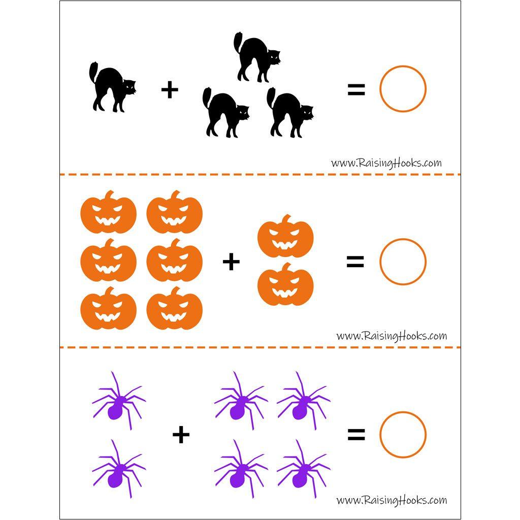 Halloween Bottle Cap Letters Worksheets