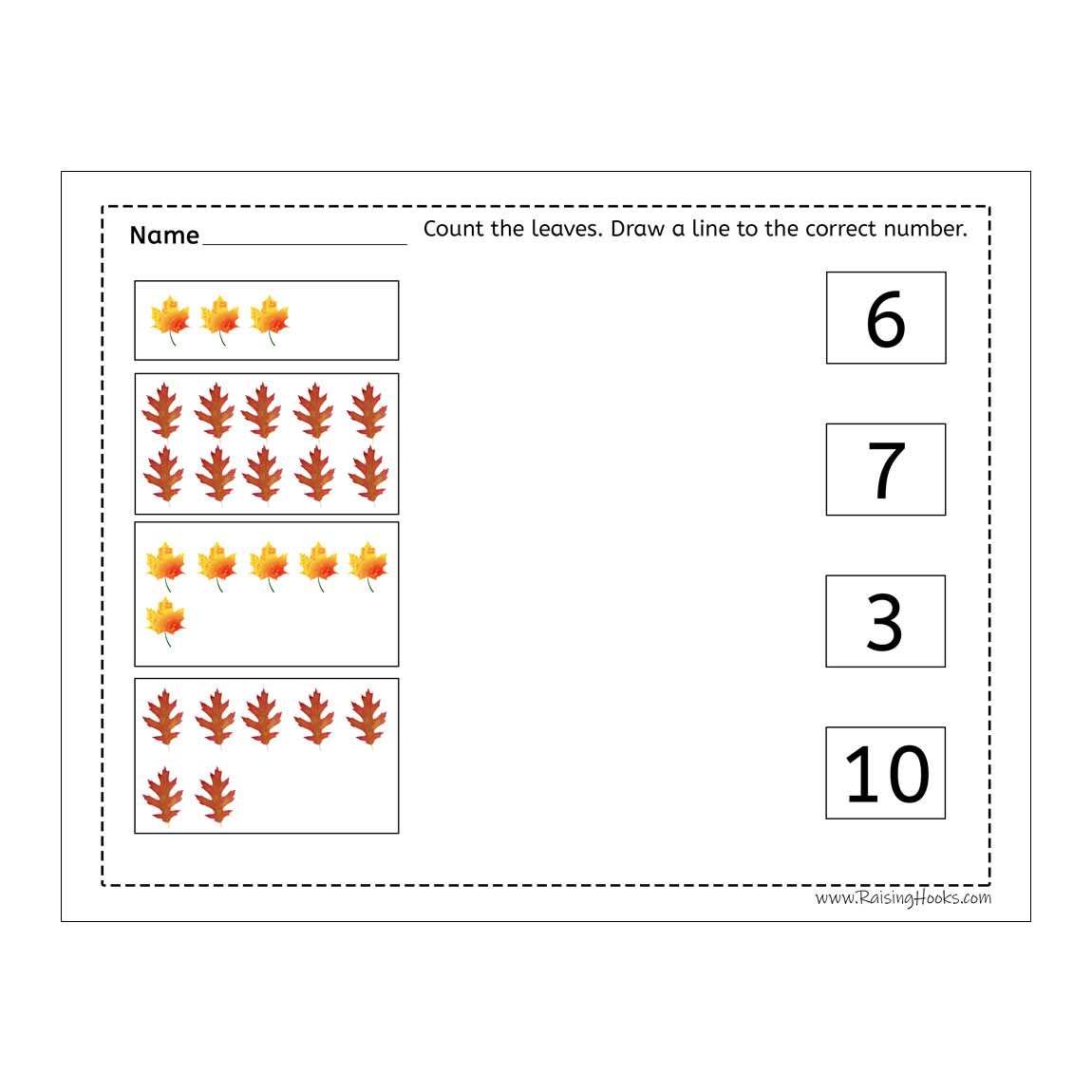 Leaf Counting Line To Number