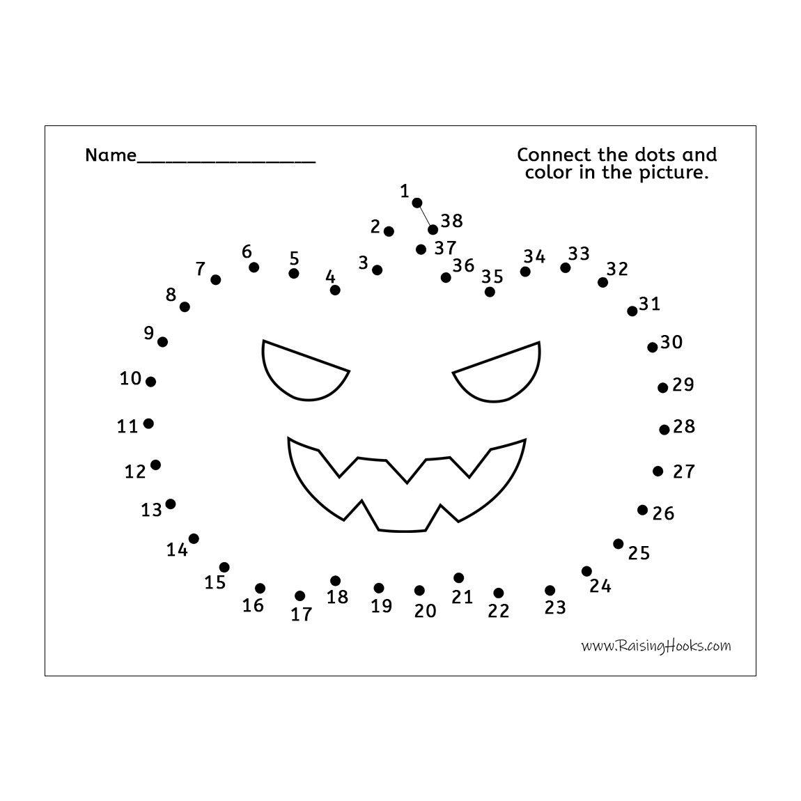 Pumpkin Connect The Dots
