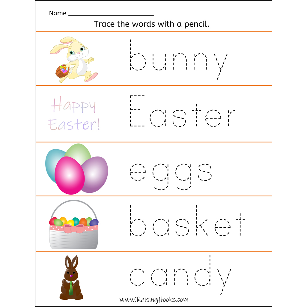 Tracing Easter Words
