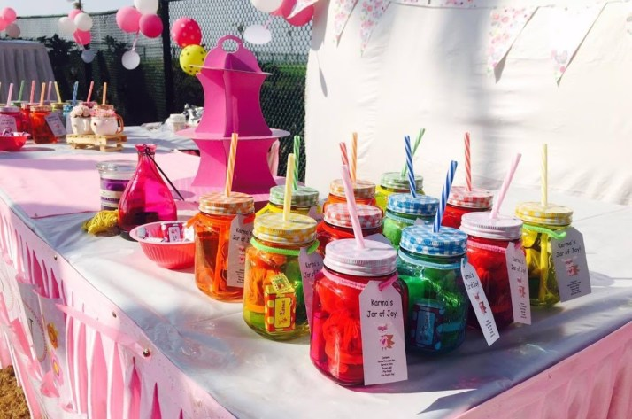 Mason Jar Birthday Return Gifts / Party Favours Ideas