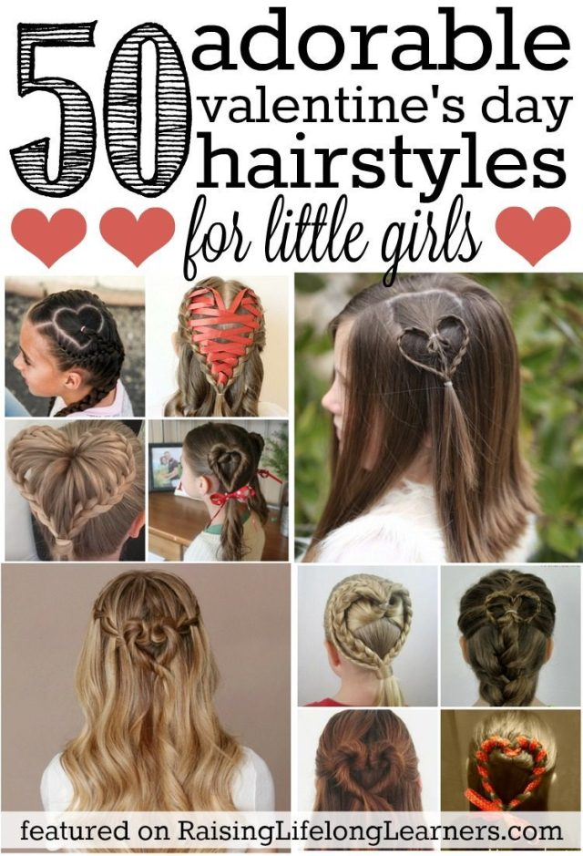 50 adorable valentine's day hairstyles for girls | easy