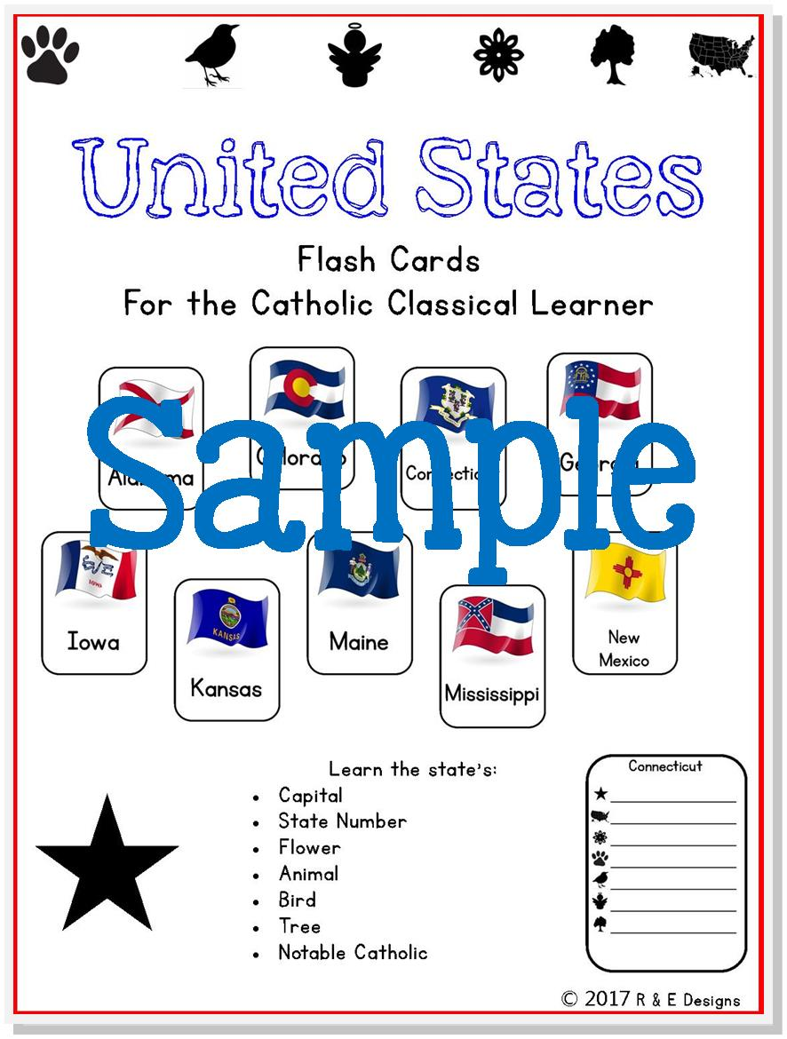 photo regarding States and Capitals Flash Cards Printable called United states of america Geography Printable Interactive Flash Playing cards Downloadable PDF