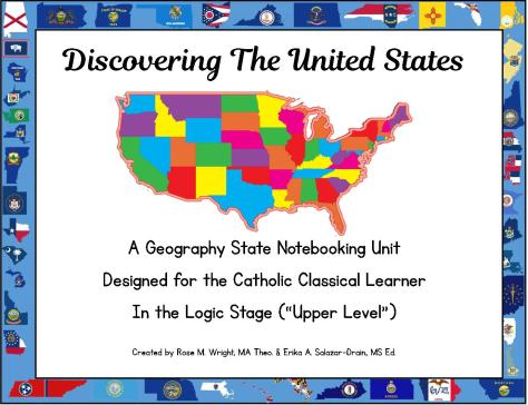Raising teaching little saints catholic homeschooling 5 usa geography printable interactive flash cards for the catholic classical learner 19 pages sciox Image collections