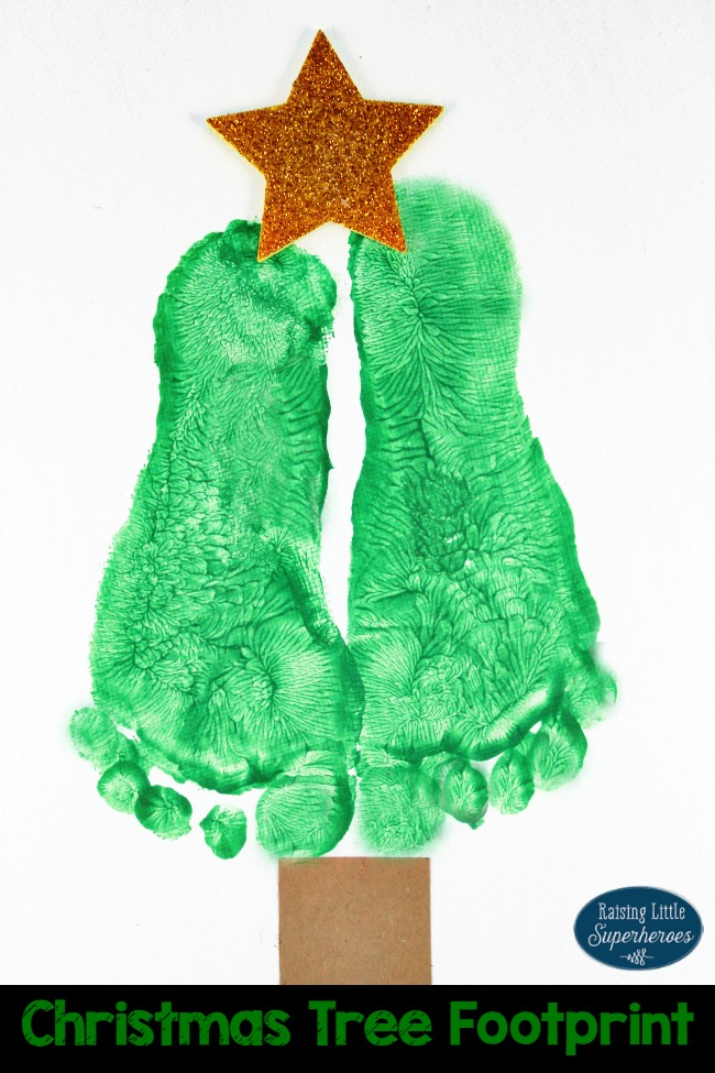 christmas tree footprint craft