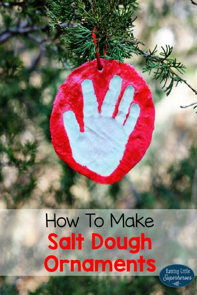 Making Christmas Ornaments Dough