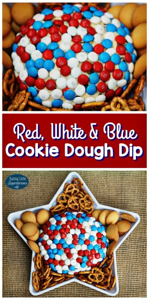 Gluten-Free 4th of July Recipes: Red, White, and Blue Gluten-Free Cookie Dough Dip