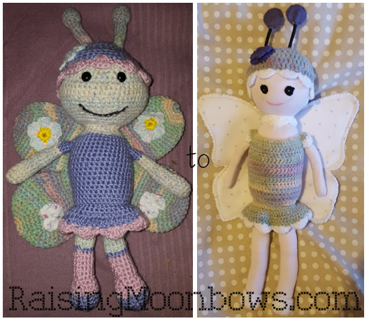 making a butterfly doll - both