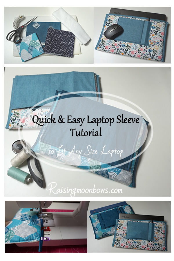 Pin it - Laptop Sleeve Tutorial